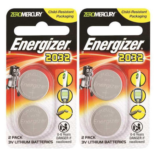 Energizer CR2032 3V Lithium Coin Button Batteries Zero Mercury 4pcs CMOS PC Desktop Laptop Motherboard Battery