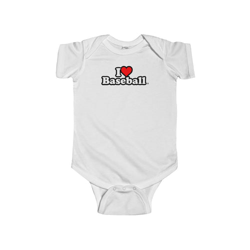 I Heart Baseball® Baby Short Sleeve Onsie