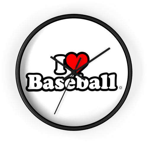 I Heart Baseball® Wall clock