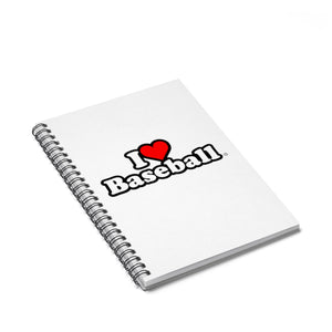 I Heart Baseball® Spiral Notebook