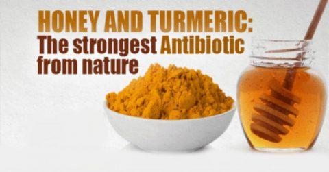 The Strongest Natural Antibiotic - Turmeric and Raw Honey