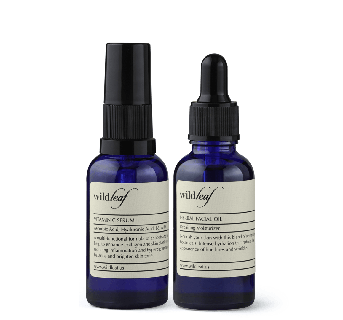 The Hydration Duo - Vitamin C Serum + Herbal Facial Oil
