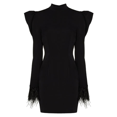 De La Vali Baltimore Feather Mini Dress