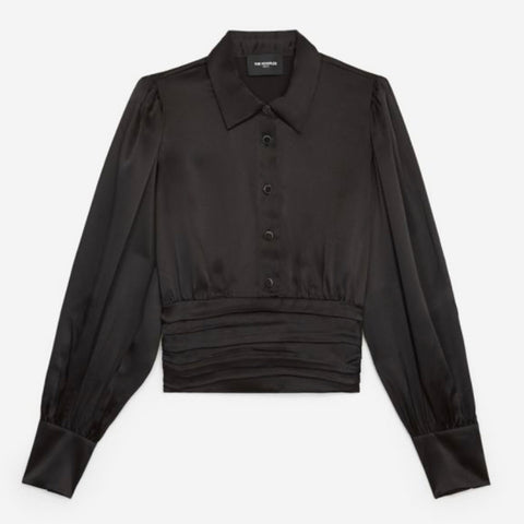 The Kooples Black Satin Shirt