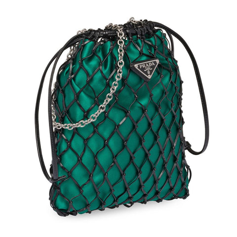 Prada Mesh Drawstring Bag