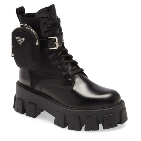 Prada Mini Bag Combat Boots