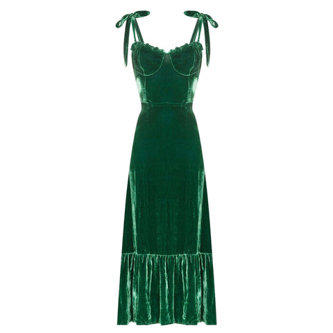 Reformation Antoinette Emerald Midi Dress