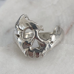 A Royal Broken Skull Ring