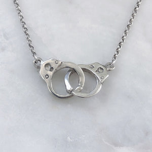 Silver Handcuff Necklace