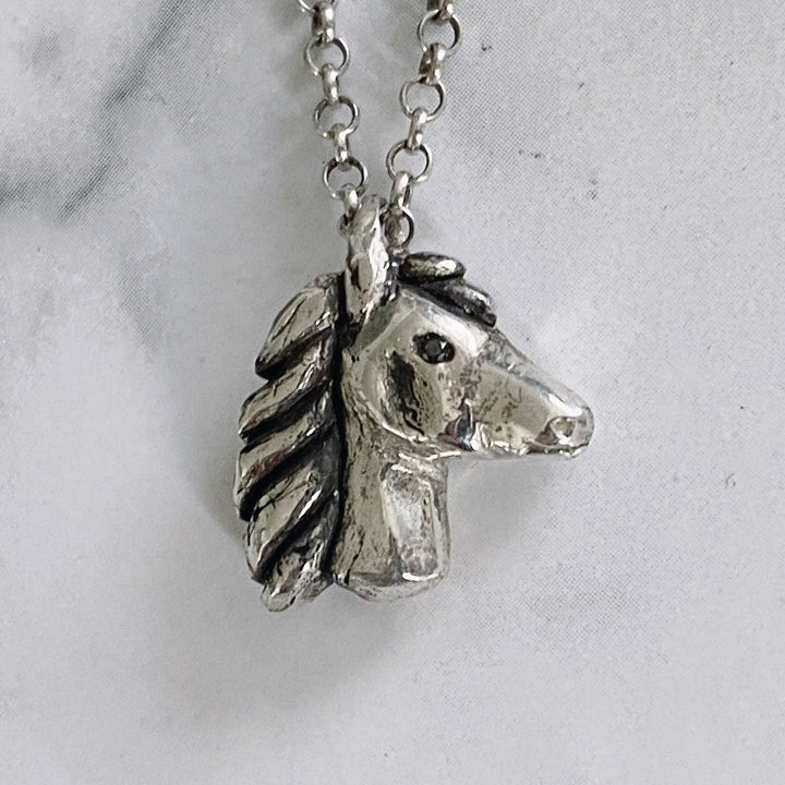 Majestic Stallion Horse Head Pendant