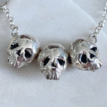 Load image into Gallery viewer, Triple Threat Skull Necklace