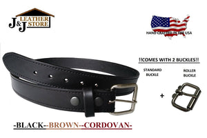"J&J Premium Leather 1-1/2"" Single Layer Gun Belt"