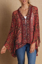 Priint Casual V Neck Loose Blouse