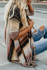 Fringed Long Sleeves Casual Cardigans