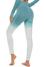 Fitness Sports Fashion Gradient Jacquard Yoga Leggings Pants
