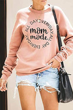 Mom Mode Everyday All Day Letter Print Casual Basic Women T-shirt