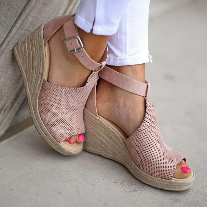 Ankle Strap Espadrille Wedge Sandals