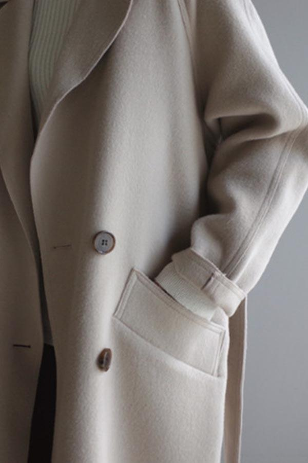 Solid Casual Button Lapel Collar Coat