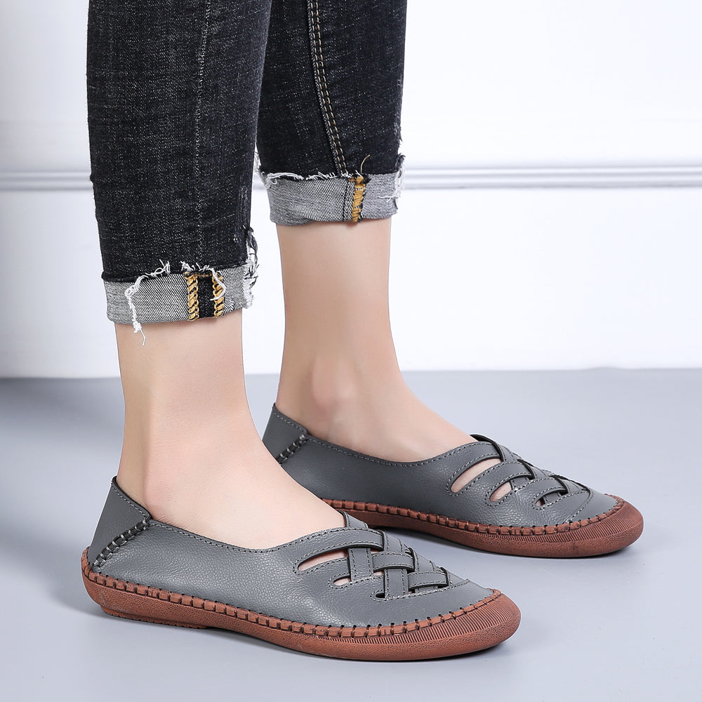 Casual Hollow Round Flats