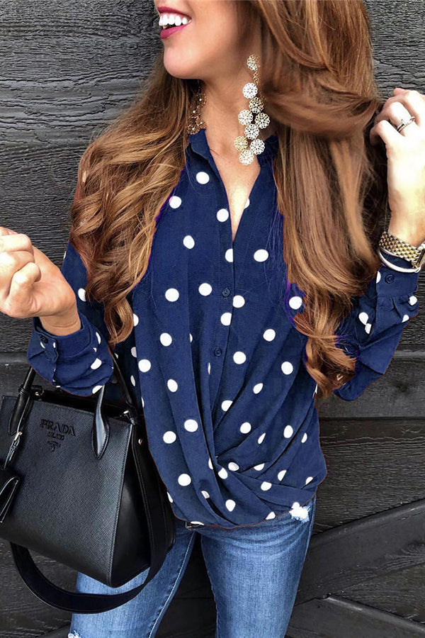 Casual Wave Point Long Sleeves Shirt