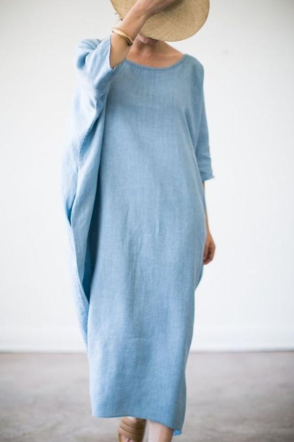 Batwing Crew Neck Casual Maxi Dress