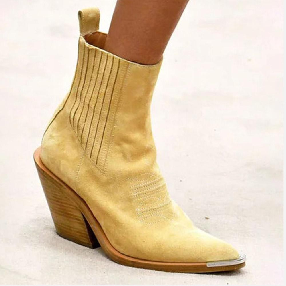 Pointed Toe Heel Short Boots