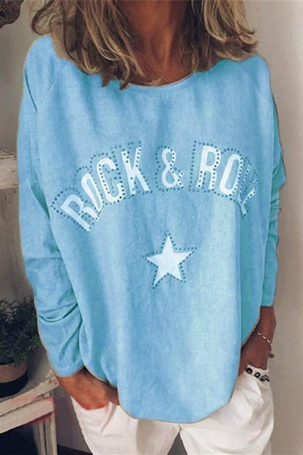 Letter Long sleeve Casual T-shirts