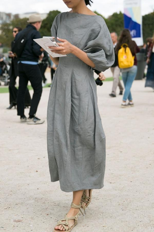 Solid Casual Half Sleeves Maxi Dress