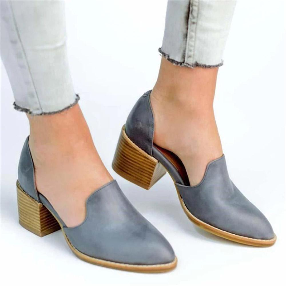 Slip-on Heels Solid Elegant Boots