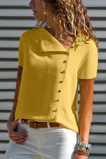 Casual Buttoned Short Sleeve T-shirts