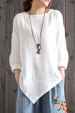 Asymmetric Long Sleeves  T-shirts