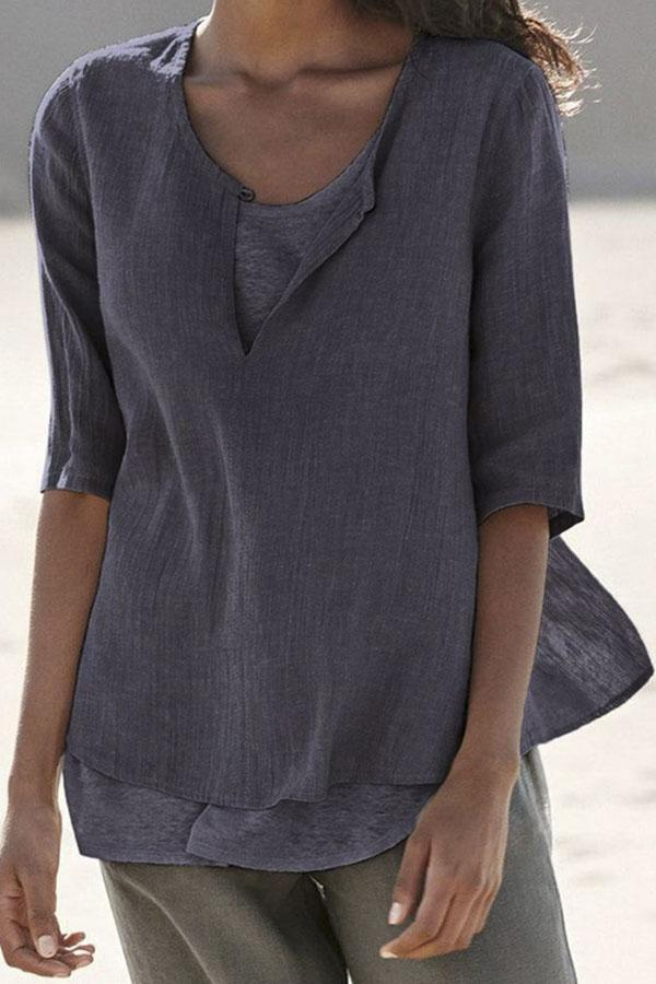 Casual Half Sleeves T-shirt