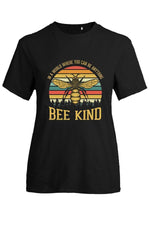 Bee Print Short Sleeves Casual T-shirt