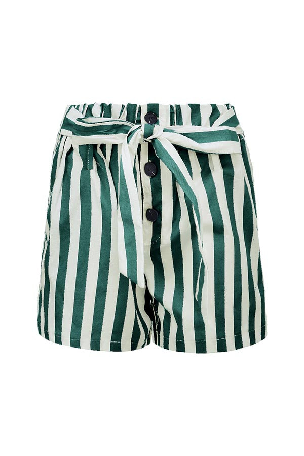 Casual Stripe Pockets Short Pants