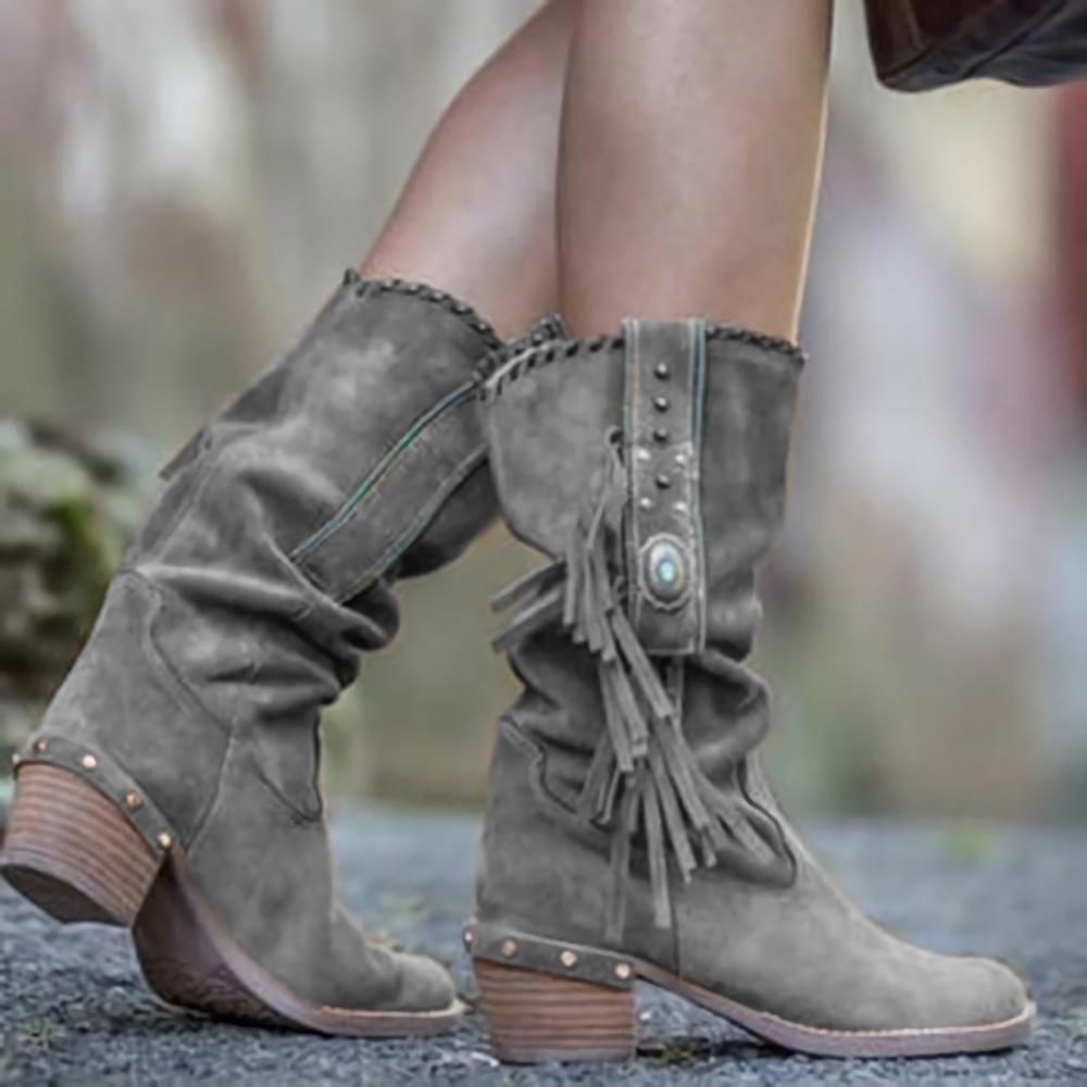 Pointed Toe Lace Up High Boots