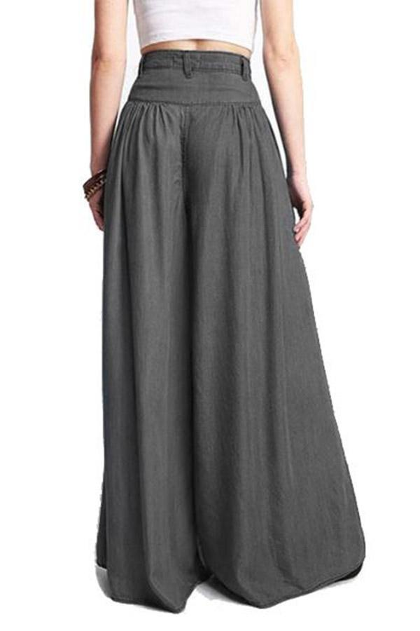 Casual High Waist Wide Leg Pants