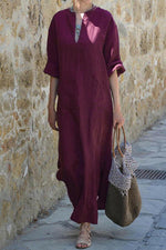 Solid Casual Pockets  Maxi Dress