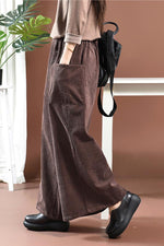 Casual Solid Loose Pockets Pants