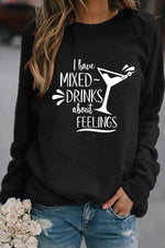 I Have Mixed Drinks About Feelings Print Casual T-shirt