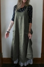 Casual Solid Sleeveless Side Pockets Maxi Dress