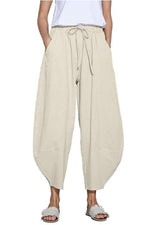 Casual Vintage Loose Solid Pants