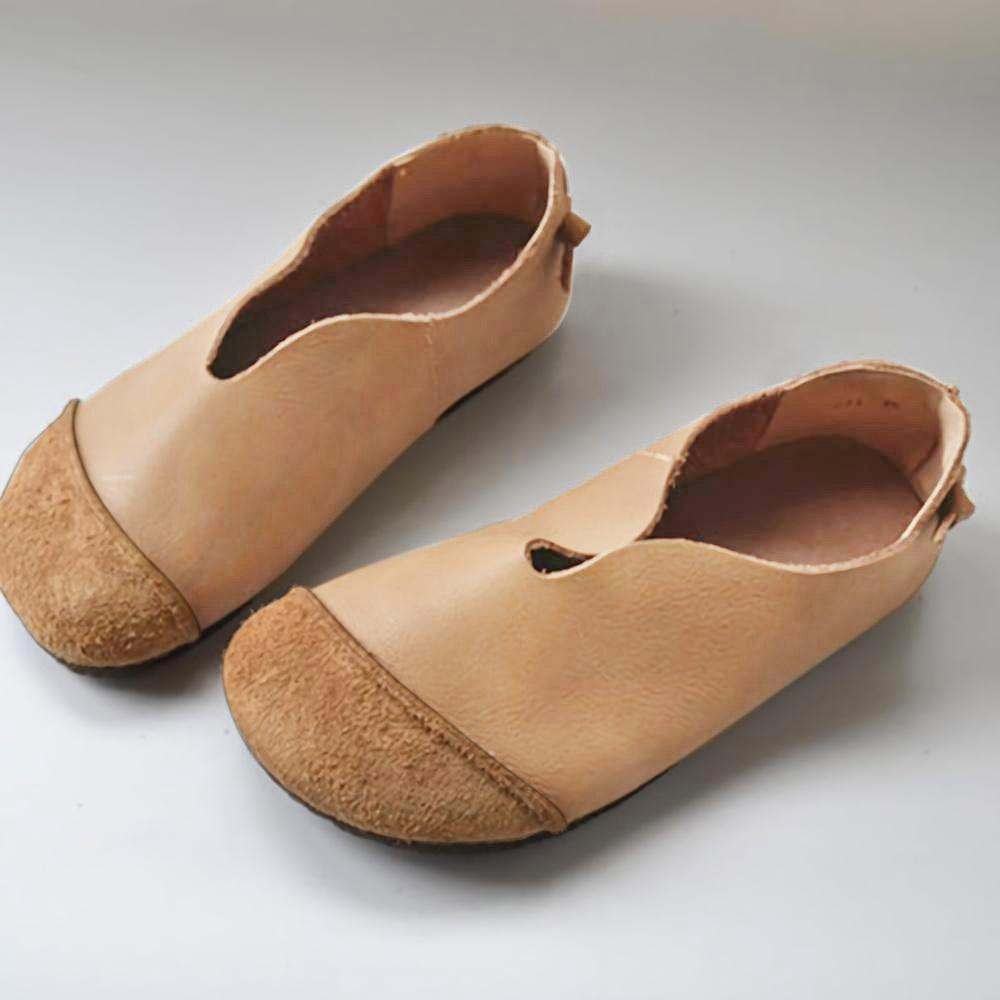 Retro Soft Round Flat Shoes