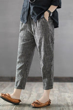 Casual Striped Pockets Pants