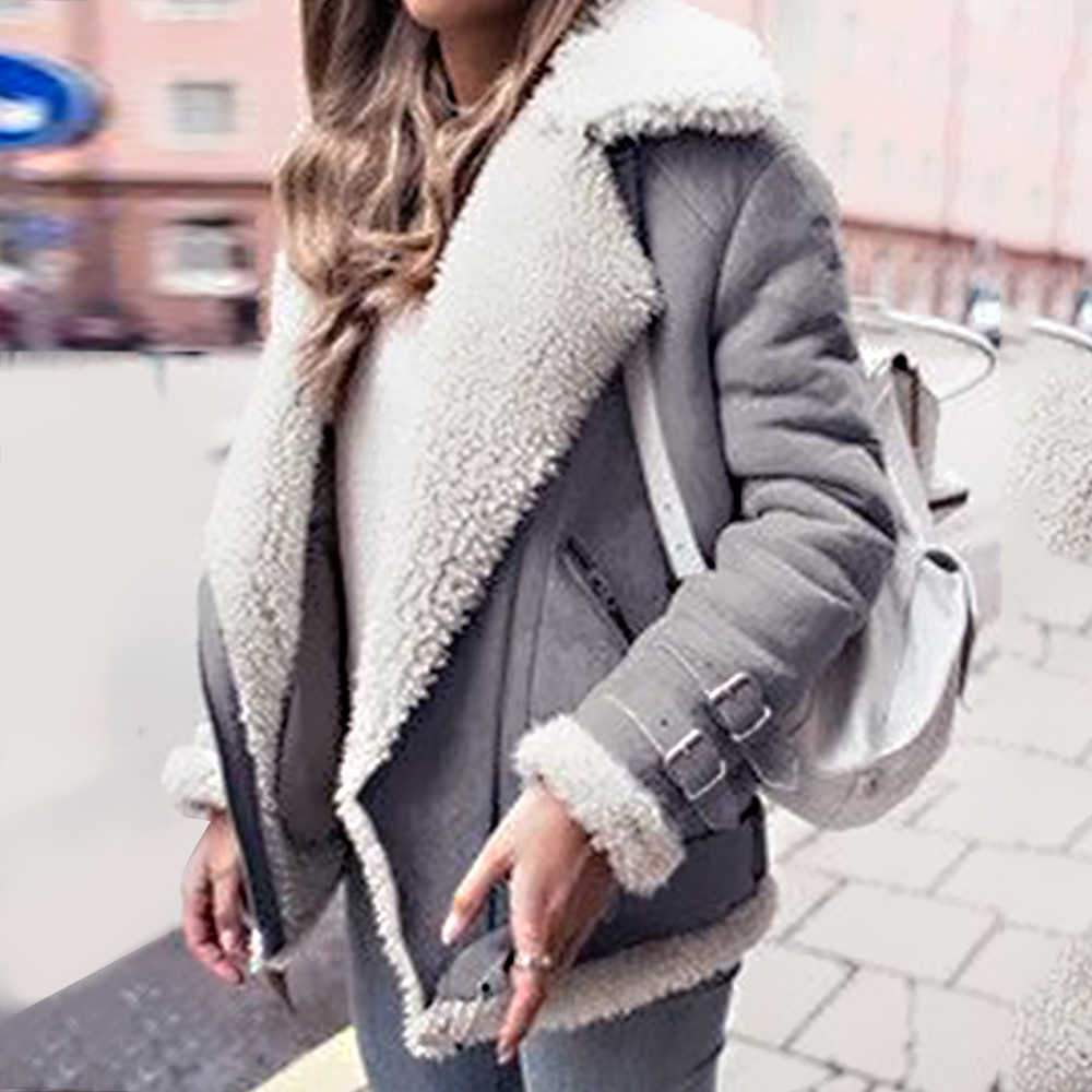 Lapel Long Sleeves Pockets Solid Coat