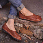 Solid Casual Round Toe Flat