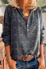 Vintage Casual Chimney Shirt