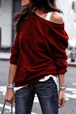 Casual Round Neck Long Sleeves T-shirts