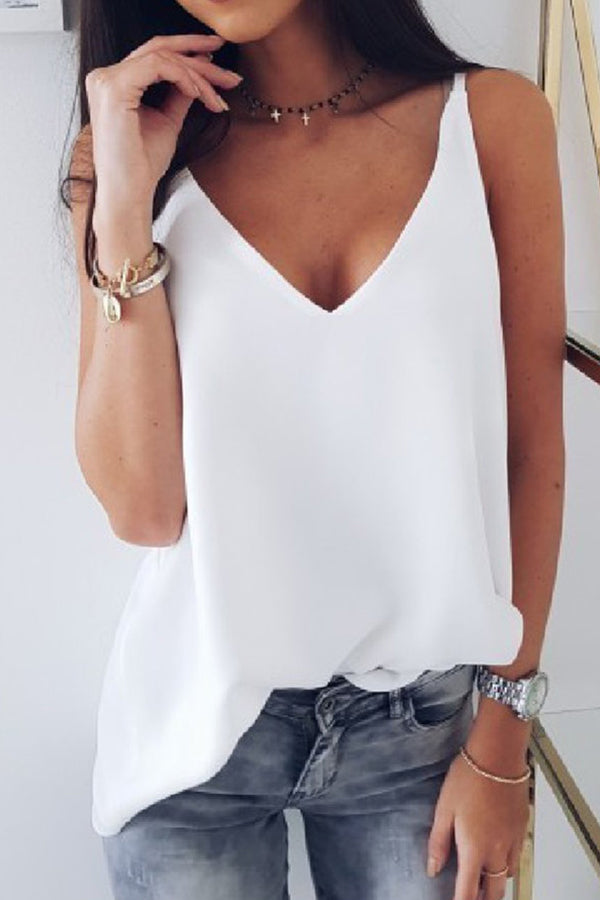 Solid Casual Sling Vest