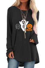 Halloween Spider Ghost Pumpkin Cartoon Print T-shirt