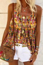 Casual Floral Sling Holiday T Shirt